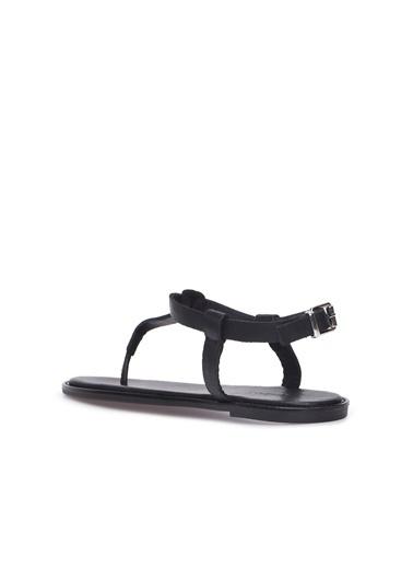 Divarese Divarese 5024428 Kadın Deri Sandalet Siyah